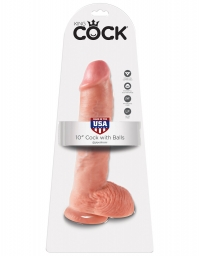 KING COCK 10 INCH COCK WITH BALLS FLESH