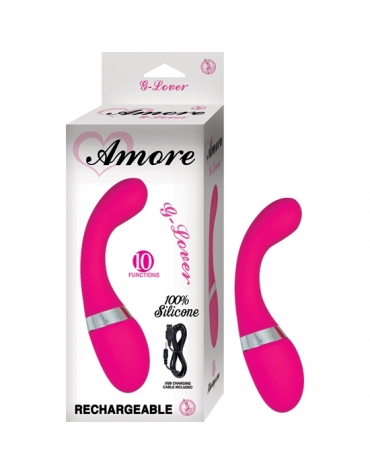 AMORE G-LOVER 10 FUNCTIONS RECHARGEABLE PINK