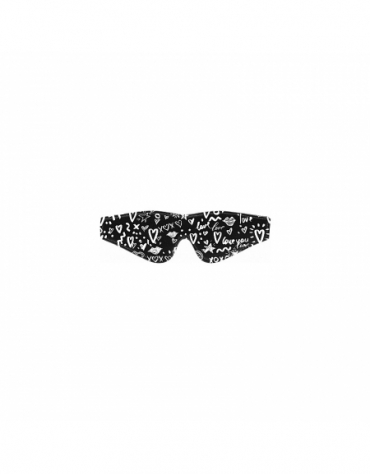 SHOTS OUCH! PRINTED EYE MASK - LOVE STREET ART FASHION BLACK