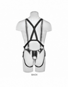 KING COCK TWO COCKS ONE HOLE HOLLOW STRAP-ON SUSPENDER SYSTEM 11 INCH FLESH