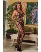 EXPOSED CROTCHLESS CATSUIT ONE SIZE BLACK