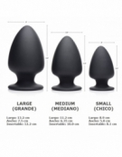 XR SQUEEZE-IT SQUEEZABLE SMALL ANAL PLUG BLACK