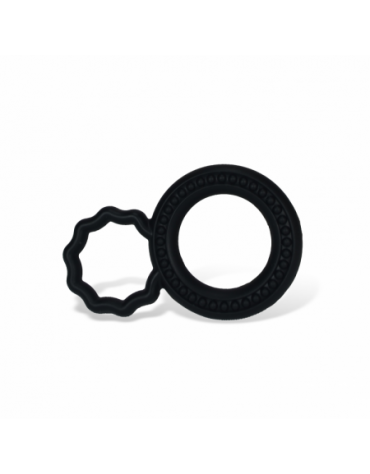 COCK RINGS 2 SIZES SILICONE BLACK