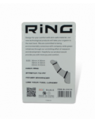 COCK RINGS THREE SIZES SILICONE BLACK