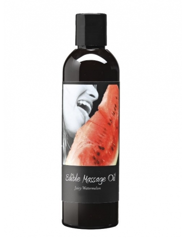 EARTHLY BODY EDIBLE MASSAGE OIL JUICY WATERMELON 2 FL OZ 60 ML