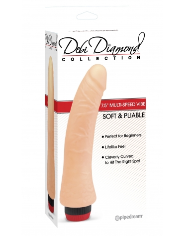 DEBI DIAMOND COLLECTION 7.5 INCH MULTI-SPEED VIBE NO. 2 FLESH