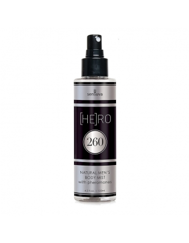 SENSUVA [HE]RO 260 NATURAL MENS BODY MIST WITH PHEROMONES 4.25 OZ
