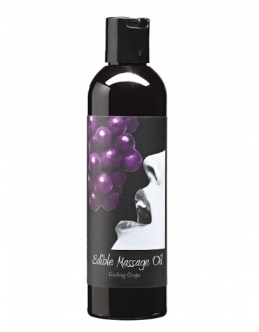 EARTHLY BODY EDIBLE MASSAGE OIL GUSHING GRAPE 2 FL OZ / 60 ML