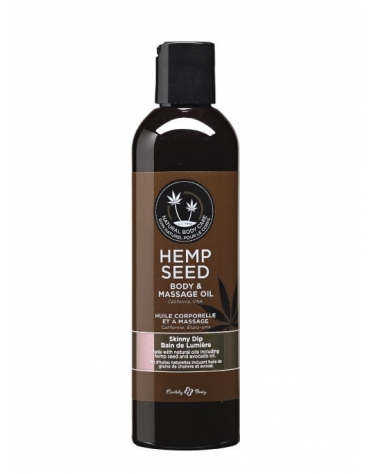 EARTHLY BODY HEMP SEED MASSAGE AND BODY OIL SKINNY DIP 2 FL OZ / 60 ML