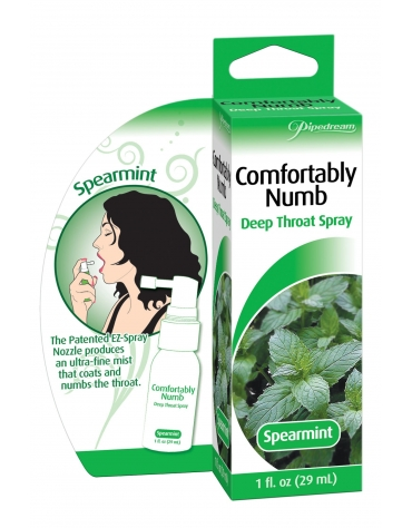 COMFORTABLY NUMB DEEP THROAT SPRAY SPEARMINT 1 FL OZ (29 ML)