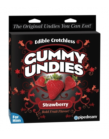 EDIBLE CROTCHLESS GUMMY UNDIES STRAWBERRY FOR HIM