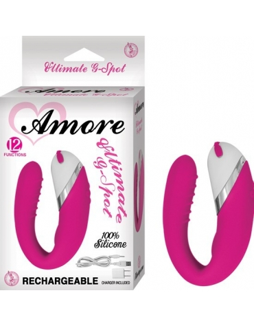 AMORE ULTIMATE G-SPOT 12 FUNCTIONS RECHARGEABLE PINK