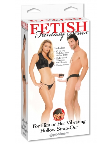 FETISH FANTASY SERIES VIBRATING HOLLOW STRAP-ON FL