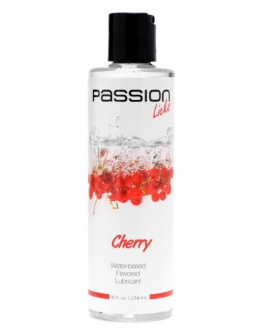 XR PASSION LICKS CHERRY WATER-BASED FLAVORED LUBRICANT 8 FL OZ