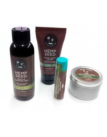 EARTHLY BODY HEMP SEED MINI MANIA SET GUAVALAVA 4 PCS