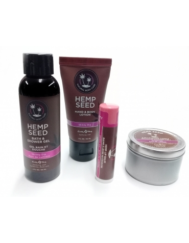 EARTHLY BODY HEMP SEED MINI MANIA SET SKINNY DIP 4 PCS