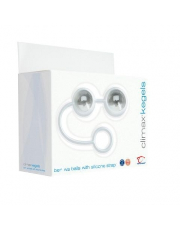 CLIMAX KEGELS GLASS BEN WA BALLS WITH SILICONE STRAP CY