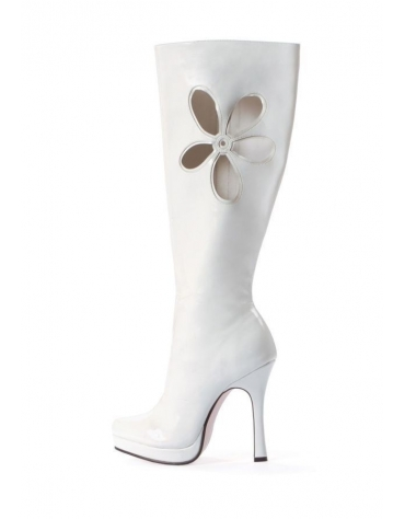 LEG AVENUE LOVECHILD 4.5 INCH GOGO BOOT WHITE SIZE 7