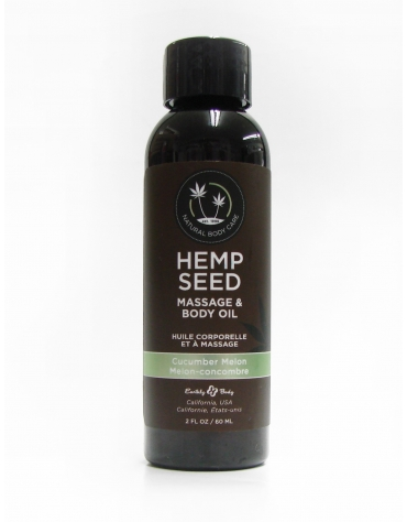 EARTHLY BODY HEMP SEED MASSAGE AND BODY OIL CUCUMBER MELON 2 FL OZ 60 ML