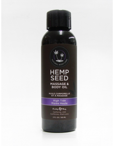 EARTHLY BODY HEMP SEED MASSAGE AND BODY OIL HIGH TIDE 2 FL OZ 60 ML