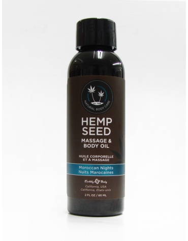 EARTHLY BODY HEMP SEED MASSAGE AND BODY OIL MOROCCAN NIGHTS 2 FL OZ 60 ML