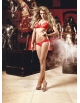 BACI DOT MESH BRA AND BIKINI SET OS RED