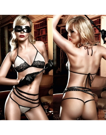 BACI LACE AND MESH SOFTCUP BRA AND G-STRING OS