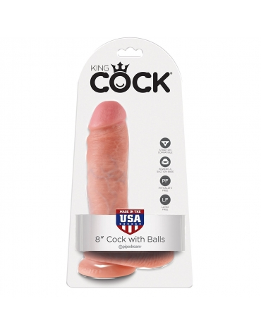 KING COCK 8 INCH COCK WITH BALLS TAN