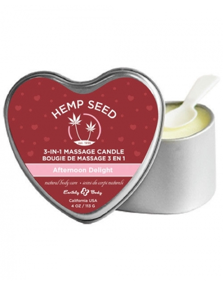 EARTHLY BODY HEMP SEED 3-IN-1 MASSAGE CANDLE AFTERNOON DELIGHT 4 OZ