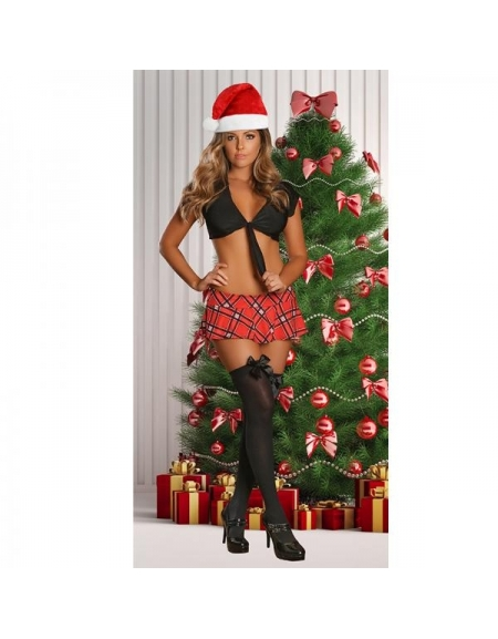 EXPOSED WAY AFTER SCHOOLGIRL AND SANTA HAT SET