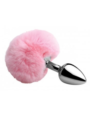 XR TAILZ FLUFFY BUNNY TAIL ANAL PLUG PINK