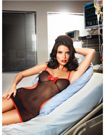 BACI MIDNIGHT SHIFT NURSE SET S-M BLACK