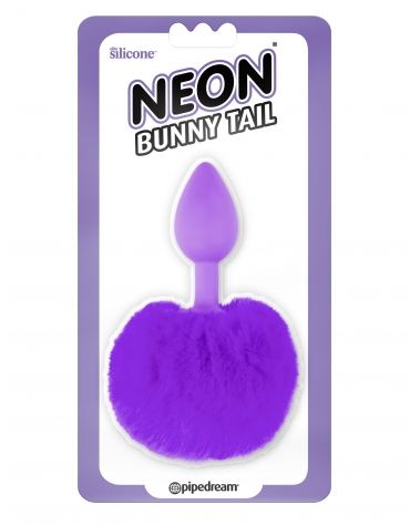 NEON BUNNY TAIL PURPLE