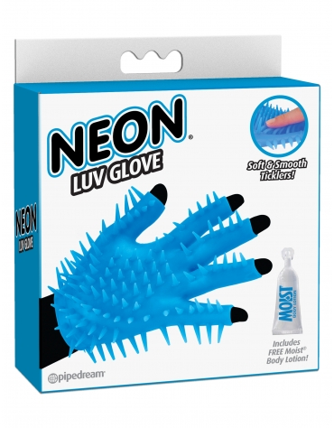 NEON LUV GLOVE BLUE