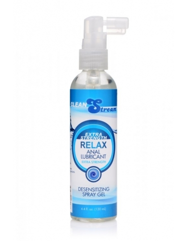 XR CLEAN STREAM EXTRA STRENGTH RELAX ANAL LUBRICANT DESENSITIZING SPRAY GEL 4.4 FL OZ 130 ML