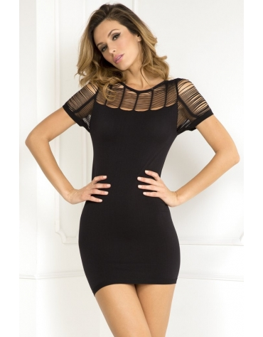 RENE ROFE SEXY SOPHISTICATE SEAMLESS DRES M-L BLACK