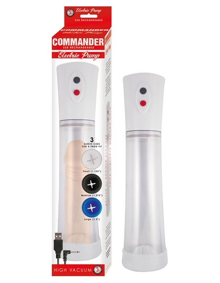 COMMANDER USB RECHARGEABLE PUMP CLEAR