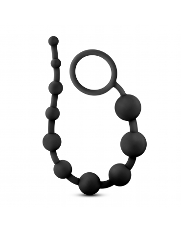 BLUSH PERFORMANCE SILICONE ANAL BEADS BLACK