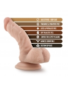 BLUSH SILICONE WILLY S 6.5 INCH SILICONE DILDO WITH BALLS FLESH
