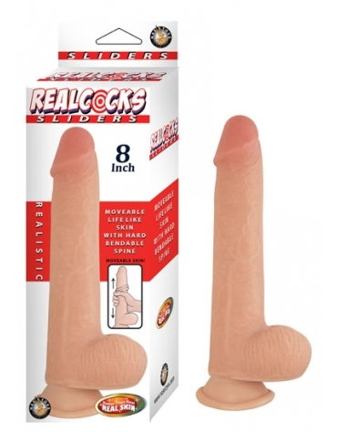 REALCOCKS SLIDERS 8 INCH FLESH