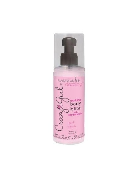 CRAZY GIRL SPARKLING BODY LOTION WITH PHEROMONES PINK CUPCAKE 6 FL OZ