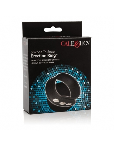 SILICONE TRI-SNAP ERECTION RING BLACK